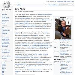 Paul Allen - Wikipedia