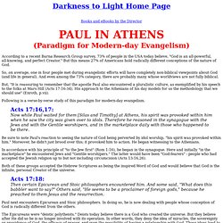 Paul in Athens - Sermon