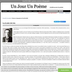 Biographie de Paul Éluard