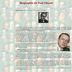 Paul Eluard - Biographie