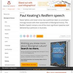 Paul Keating's Redfern speech