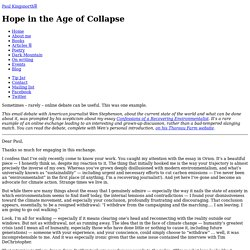 Paul Kingsnorth: Hope in the Age of Collapse