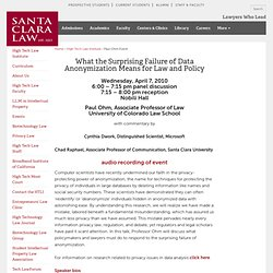 Santa Clara Law: Paul Ohm Event