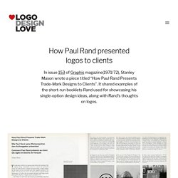 How Paul Rand presented logos to clients
