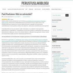 Pauli Rautiainen: Mikä on valmiuslaki?