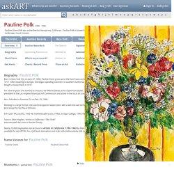 Pauline Polk - Artist, Fine Art Prices, Auction Records for Pauline Polk