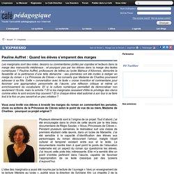 Pauline Auffret : Quand les élèves s'emparent des marges