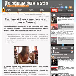 Pauline, élève-comédienne au cours Florent