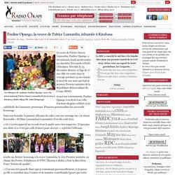 23/12/2014 décès Pauline Opango Lumumba, son épouse
