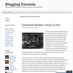 Blogging Einstein