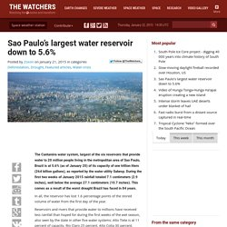 Sao Paulo's largest water reservoir down to 5.6%