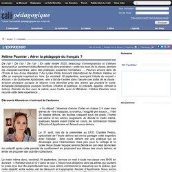 Hélène Paumier : Aérer la pédagogie du français ?