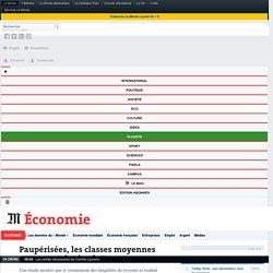 Paupérisées, les classes moyennes ne cessent de s'endetter