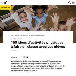 150 idées d'activités physiques à faire en classe avec vos élèves