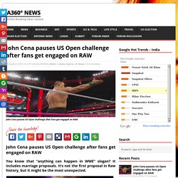 John Cena pauses US Open challenge after fans get engaged on RAW