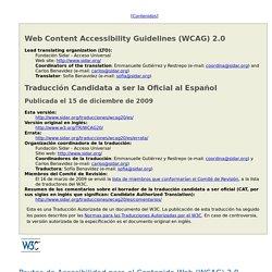 Pautas de Accesibilidad para el Contenido Web (WCAG) 2.0