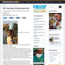 De l'eau pour les plus pauvres