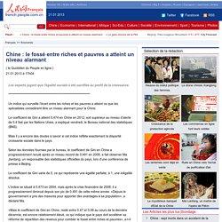 Chine:lefosséentrerichesetpauvresaatteintunniveaualarmant