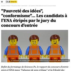 """""""Pauvreté des idées"""", """"conformisme""""… Les candidats à l'ENA étripés par le jury du concours d'entrée"""