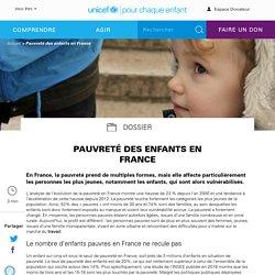 unicef - Pauvreté des enfants en France
