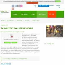 PAUVRETE ET EXCLUSION SOCIALE - Vivre Ensemble