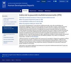 Indice de la pauvreté multidimensionnelle (IPM)