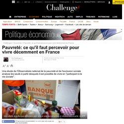 Pauvreté: combien faut-il percevoir pour vivre décemment en France?