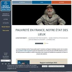 Pauvreté en France, notre état des lieux