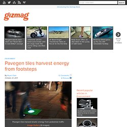 Pavegen tiles harvest energy from footsteps