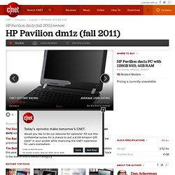 HP Pavilion dm1z Review - Watch CNET's Video Review