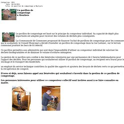 Un pavillon de compostage à Moutiers