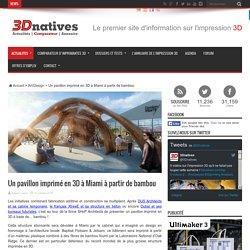 Un pavillon imprimé en 3D à Miami à partir de bambou