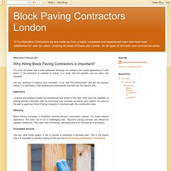 Block Paving Contractors London: Why Hiring Block Paving Contractors is Important?