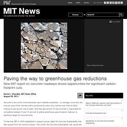 Paving the way to greenhouse gas reductions