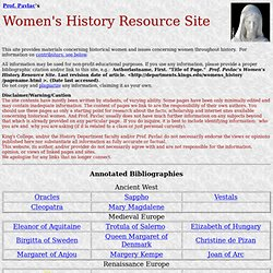 Prof. Pavlac's Women's History Resource Site