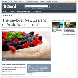 The pavlova: New Zealand or Australian dessert?