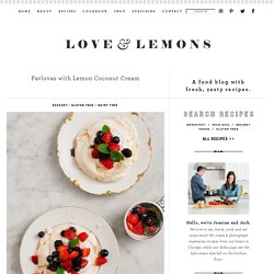 Pavlovas with Lemon Coconut Cream Recipe