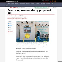 Pawnshop owners decry proposed bill