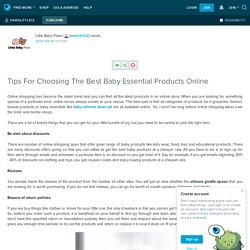 Tips For Choosing The Best Baby Essential Products Online