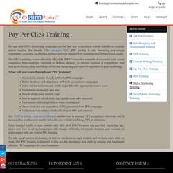 Pay Per Click (PPC) Training in Bhopal, Paid SEO Training