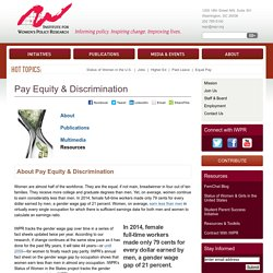 Pay Equity & Discrimination