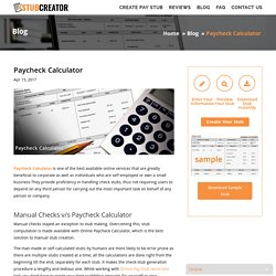 Paycheck Calculator - Stub Creator