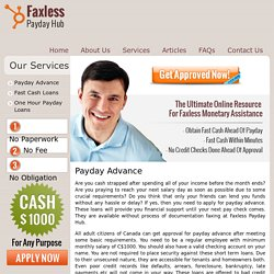 Payday Advance – Faxless Payday Hub