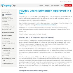 Payday Loans in Edmonton up to $5k in 1 Hr- PaydayCity
