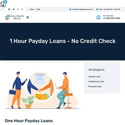 1 Hour Payday Loans - No Credit Check – Easy Qualify Money