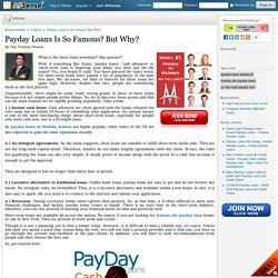 Payday Loans Is So Famous? But Why? by Day Fastpay