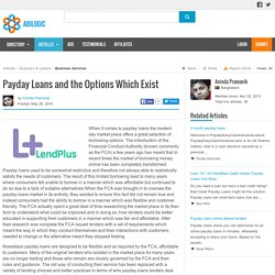Payday Loans and the Options Which Exist