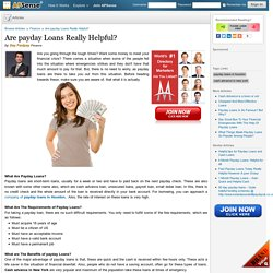 Are payday Loans Really Helpful? by Day Fastpay