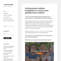 Professional website templates to create your payday loan website