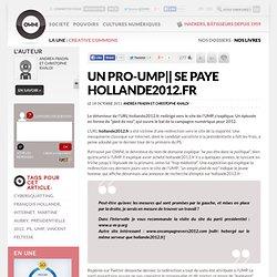 Un pro-UMP se paye Hollande2012.fr